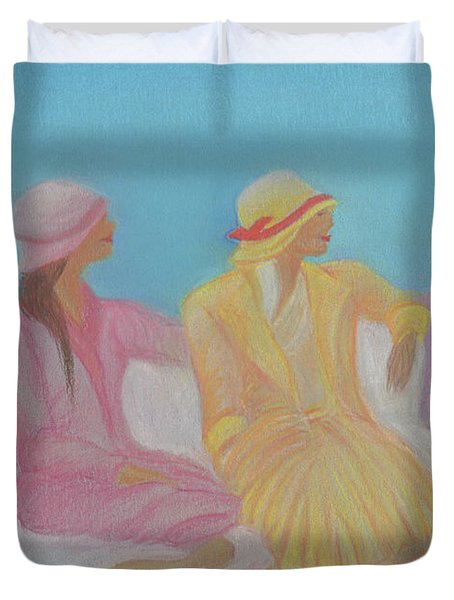 Pastel Hats By Jrr Duvet Cover by First Star Art