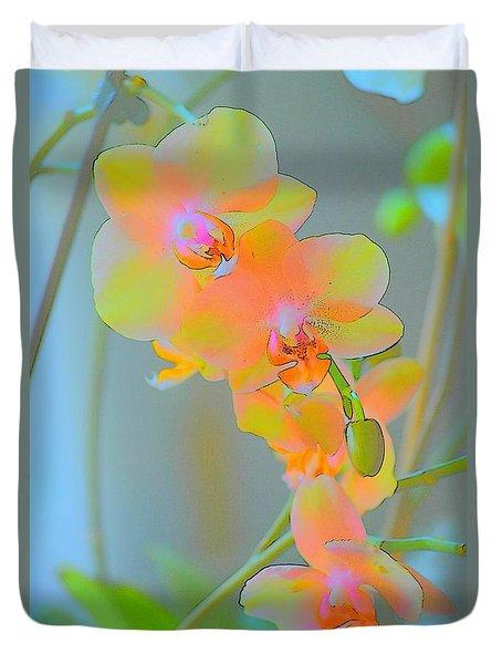 Pastel Orchids Duvet Cover