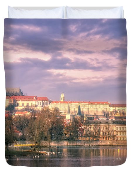 Pastel Prague Morning Duvet Cover