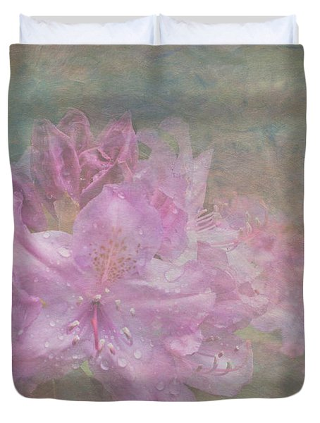 Pastel Rhododendron Duvet Cover