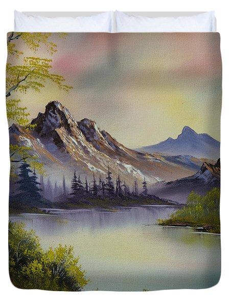 Pastel Skies Duvet Cover by C Steele