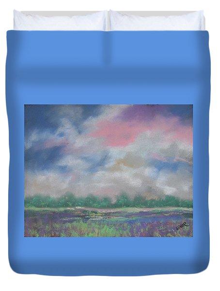 Pastel Sky Duvet Cover by Terri Einer