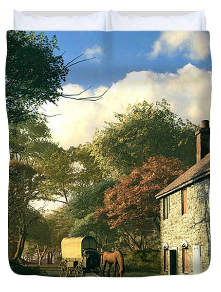 Pastoral Homestead Duvet Cover by Dominic Davison