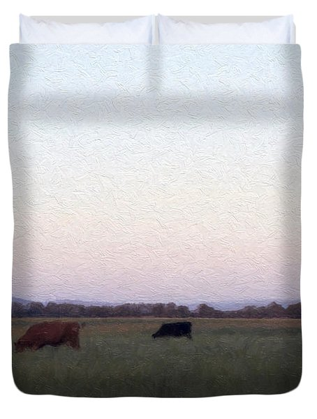 Duvet Cover featuring the photograph The Kittitas Valley II by Susan Parish