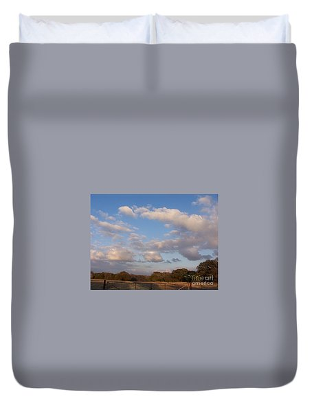 Pasture Clouds Duvet Cover
