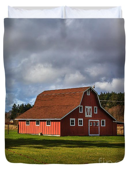 Duvet Cover featuring the photograph Pasture For Rent by Jean OKeeffe Macro Abundance Art