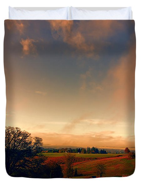 Pastureland Duvet Cover by Don Schwartz