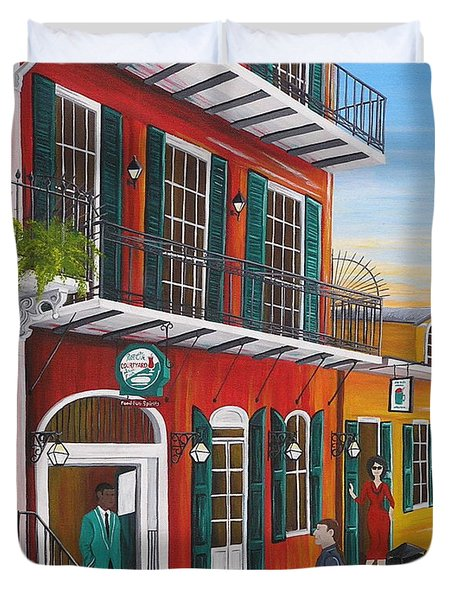 Pat O's Courtyard Entrance Duvet Cover
