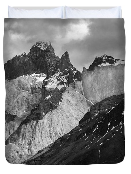Patagonian Mountains Duvet Cover