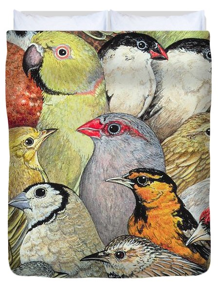 Patchwork Birds Duvet Cover by Ditz