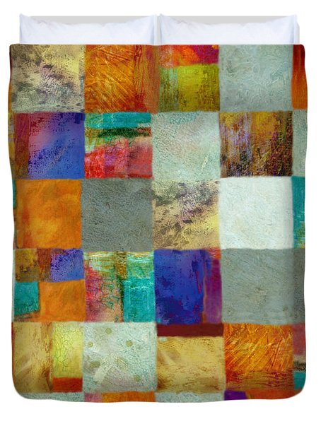 Patchwork Rectangle Abstract Art  Duvet Cover by Ann Powell
