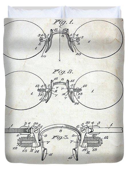 Patent - Vintage Eyeglasses Duvet Cover by Paul Ward