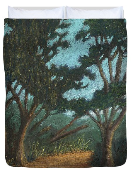 Path By Lake Murray 01 Duvet Cover