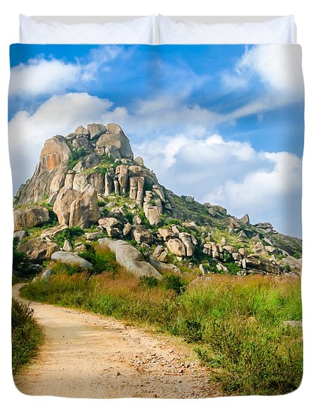 Path Into The Hills Duvet Cover