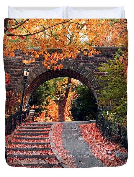 Path Of Leaves Duvet Cover