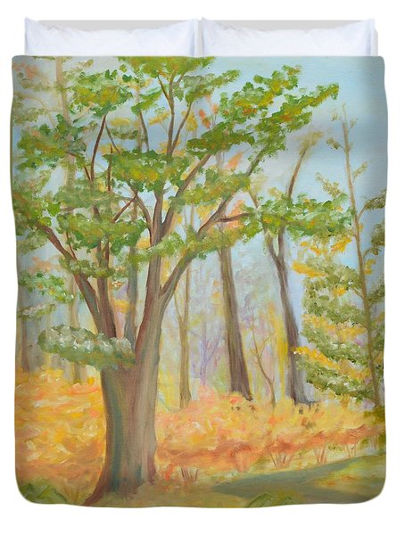 Path Of Trees Duvet Cover