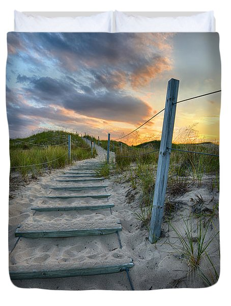 Path Over The Dunes Duvet Cover
