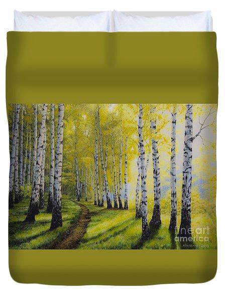 Path To Autumn Duvet Cover by Veikko Suikkanen
