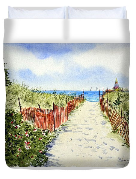 Path To East Beach-watch Hill Ri Duvet Cover