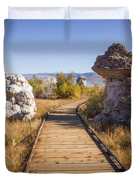 Path To Mono Lake Duvet Cover