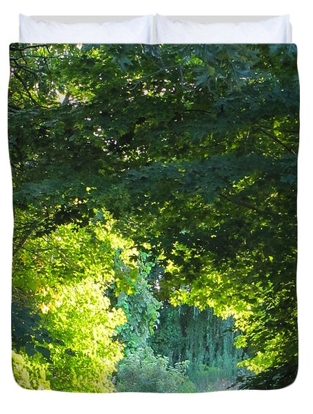 Path To The Light Duvet Cover
