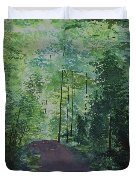 Path To The River Duvet Cover by Martin Howard