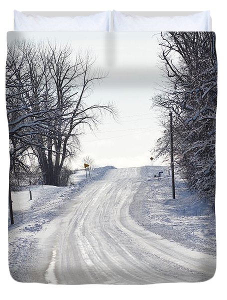 Duvet Cover featuring the photograph Path To The Unknown by Dacia Doroff