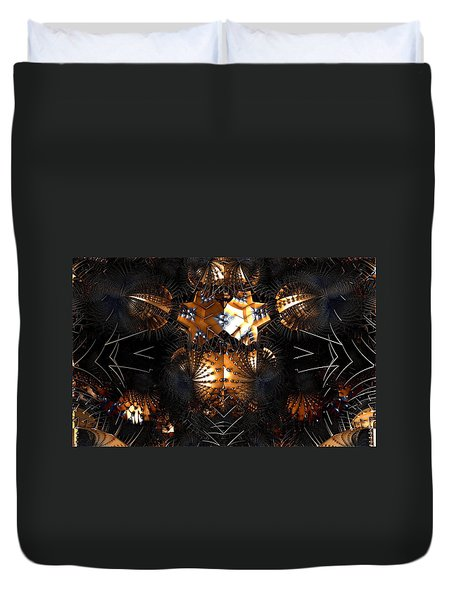 Paths Of Pain Duvet Cover by Jeff Iverson