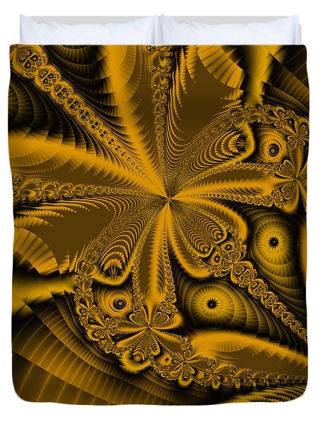 Duvet Cover featuring the digital art Paths Of Possibility by Elizabeth McTaggart