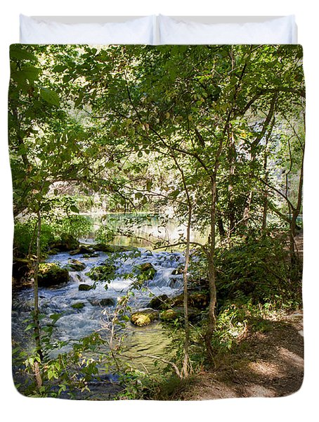 Duvet Cover featuring the photograph Pathway Along The Springs by John M Bailey