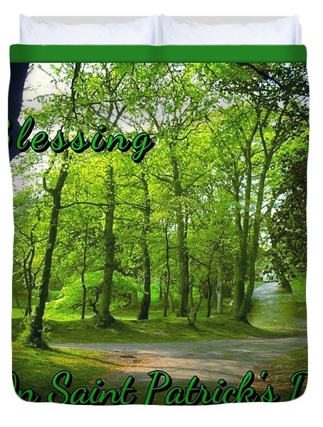 Pathway Saint Patrick's Day Greeting Duvet Cover