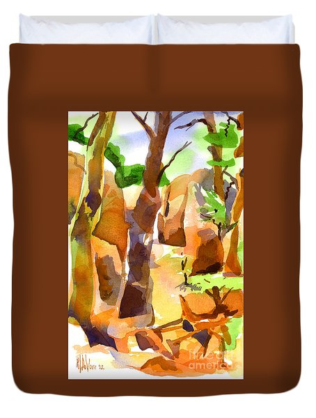 Pathway Through Elephant Rocks 1b Duvet Cover by Kip DeVore