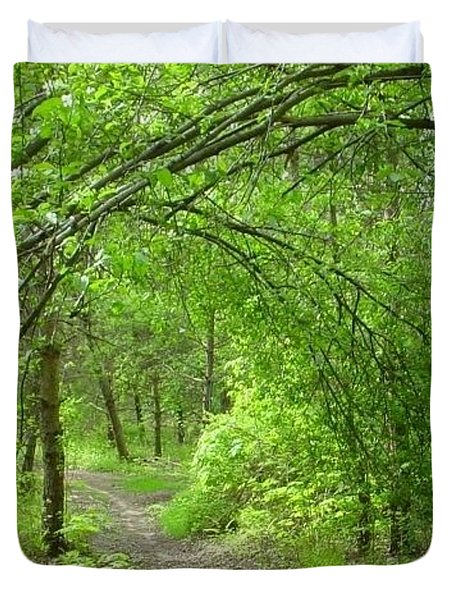 Pathway Through Nature's Bower Duvet Cover