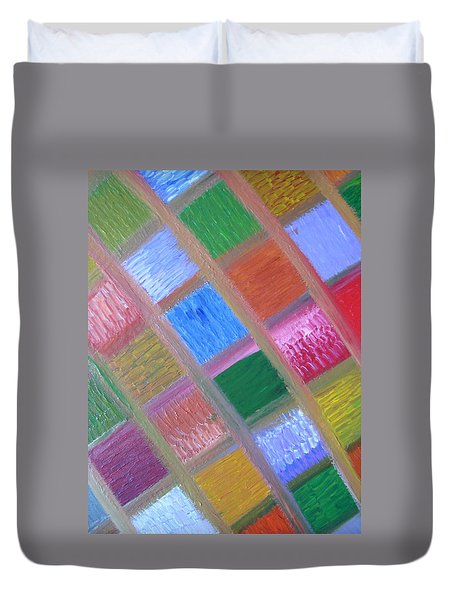 Patience And Peace Duvet Cover