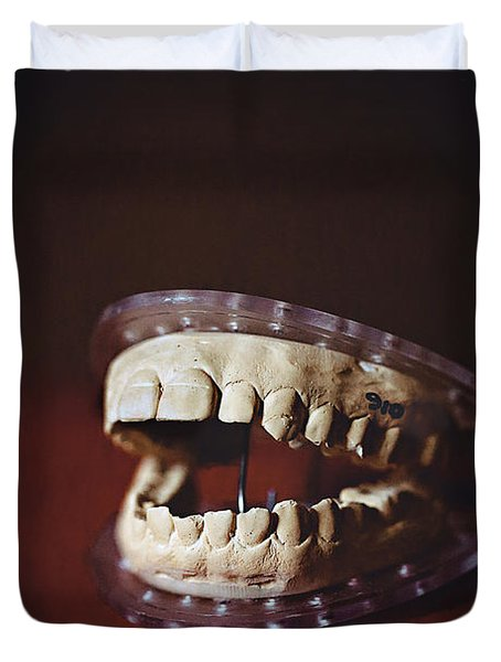 Duvet Cover featuring the photograph Patient 910 by Trish Mistric