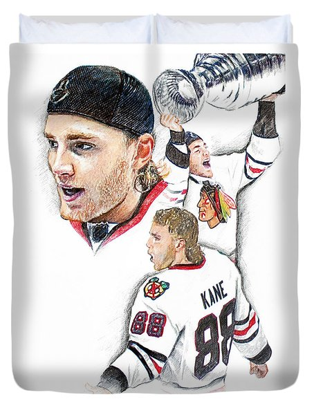 Patrick Kane - The Moment Duvet Cover by Jerry Tibstra