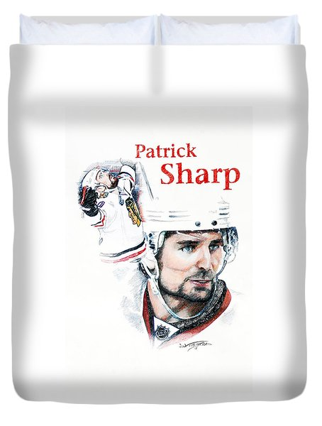 Patrick Sharp - The Cup Run Duvet Cover by Jerry Tibstra