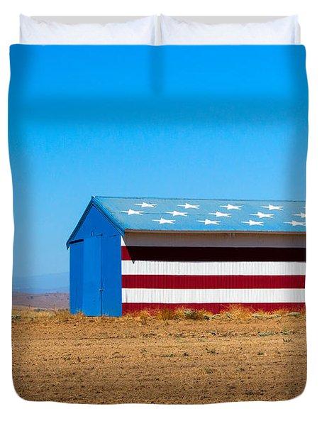 Patriotic Barn Duvet Cover