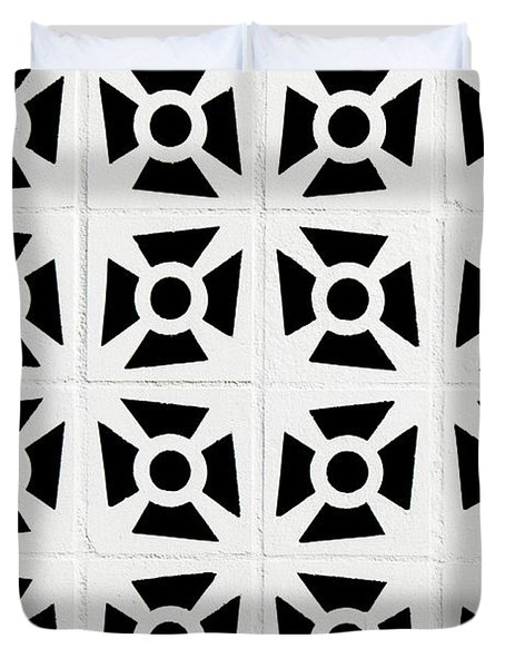 Duvet Cover featuring the photograph Patterns In Black And White by Art Block Collections