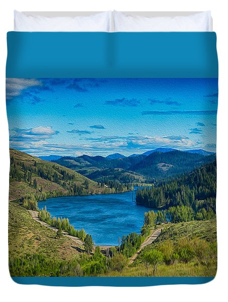 Patterson Lake In The Summer Duvet Cover