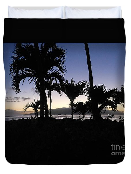 Pau Hana Time Duvet Cover by Fred Wilson