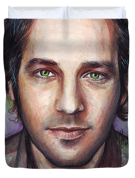 Paul Rudd Portrait Duvet Cover