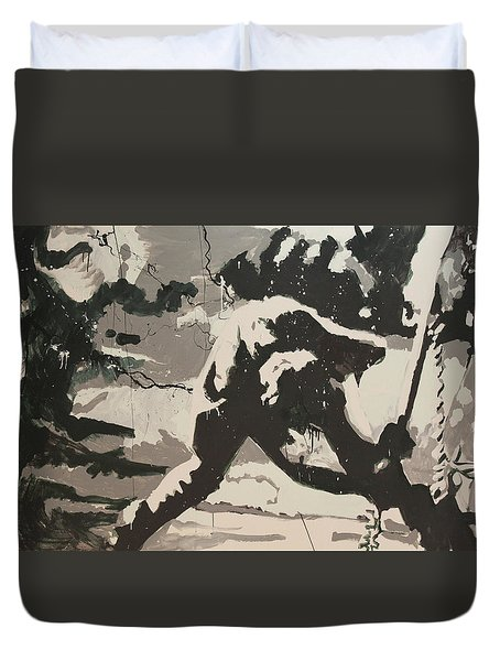Paul Simonon Of The Clash Duvet Cover by Dustin Spagnola