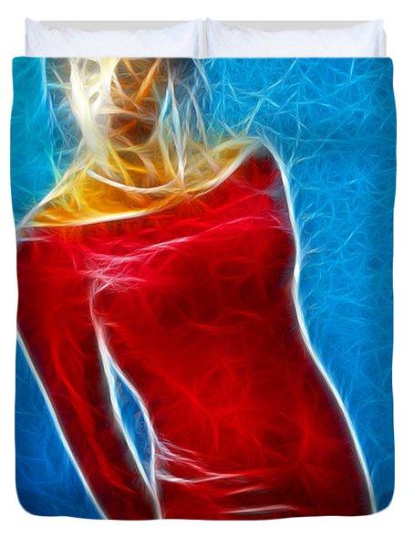 Paula Velvet Vison Fractal Duvet Cover by Gary Gingrich Galleries