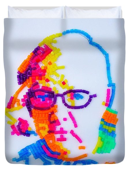Paul's Portrait Duvet Cover by PainterArtist FINs husband Maestro