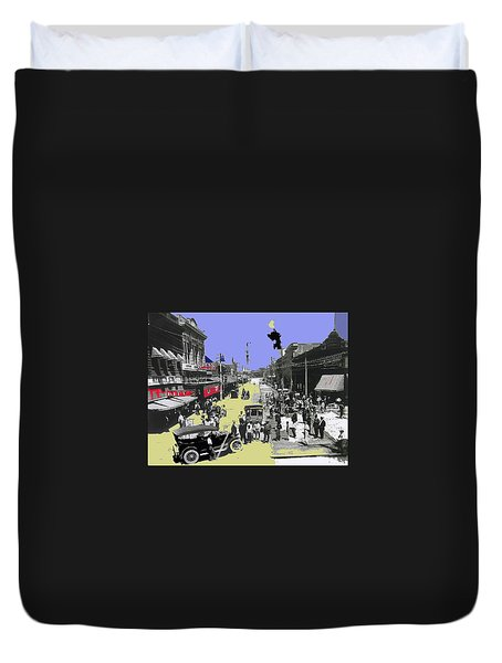 Paving Congress Street Tucson Arizona 1913-2008 Duvet Cover