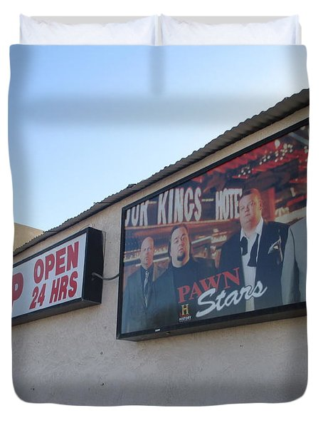 Pawn Stars Duvet Cover by Kay Novy
