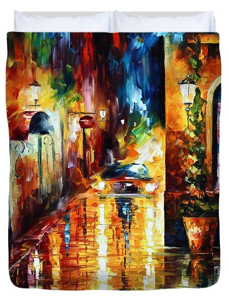 Paying A Visit New Duvet Cover by Leonid Afremov