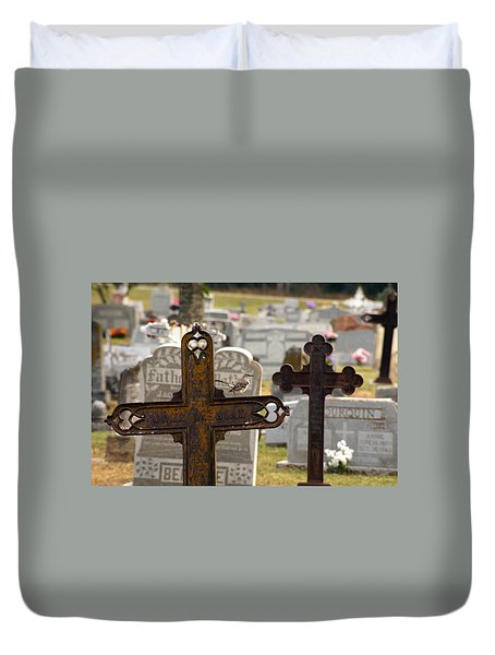 Paying Respect Duvet Cover