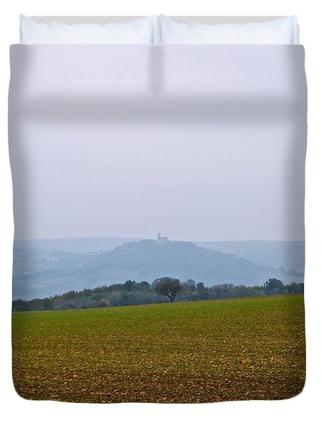 Pays De Vezelay Duvet Cover by Marc Philippe Joly